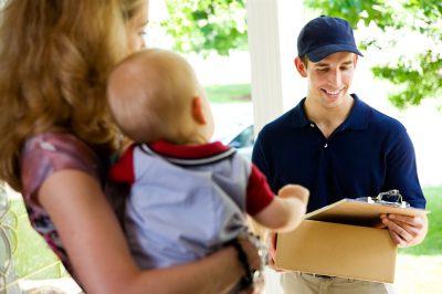 משלוח עם תינוק